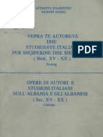 Bibliografi Autoret Italiane Per Shqiperine XV - XX