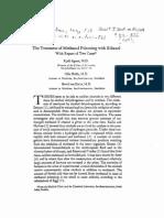 (141) Agner 1949 Treatment of Methanol Poisoning With Ethanol