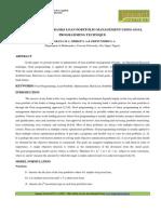6. Applied-Optimization of Banks Loan Portfolio Management-Agarana