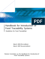 Traceability System of Food Manufacturing