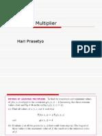 Lagrangian Multiplier