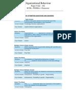SCDL Organizational Behaviour