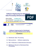 Software Engineering for Distributed Data Processing Infrastructures DCIs