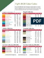 RGB Color Codes SU 20
