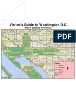 Map of Washington, D.C. & Featured Attractions