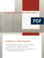 Management for Pterygium