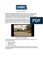 Industrial Report of unibic
