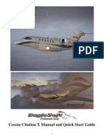 Flight Simulator 2004 - Eaglesoft Cessna Citation X Manual