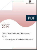 China Insulin Market Review to 2018 – Increasing Focus on R&D Investments