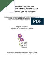 Trabajos aprobados para la modalidad de Presentación Oral en ALAP 2014