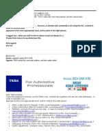 Texa Contacts 2013