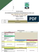 Esquema General. Programa XXVI Congreso ALAP 2014