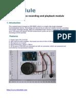 EIM353 ISD1820 Module Manual V01