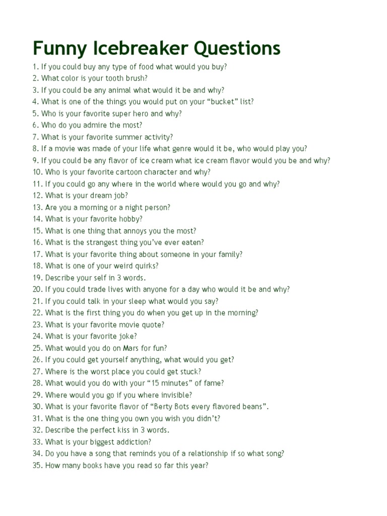 Funny questionaires