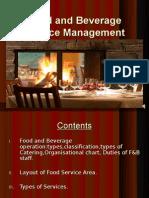 Unit - 1 - Food and Beverage Service Management