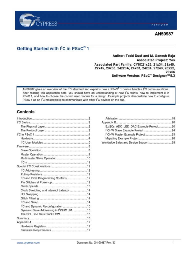 i2c psoc eval1 | Transmission Control Protocol