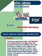 data . Analisis Jabatan Job Description 1