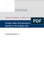 Foreign Labor and Questions of Identity in the Arabian Gulf