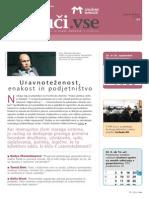 Revija Združenja Manager za uravnoteženje v procesu ekonomskega odločanja, Sept 2014