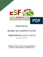 Proyecto Bases de Competicion Temporada 2014-2015 f.v.b.-e.s.f.