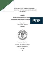 Audit Manajemen Untuk Menilai Efektivitas