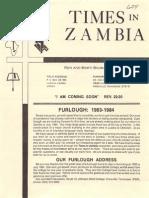Baumann Ronald Marti 1982 Zambia
