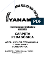 Carpeta Pedagogica de Pacarisca