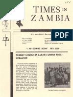 Baumann Ronald Marti 1983 Zambia