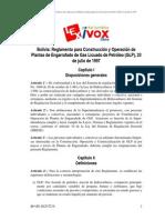 Reglamento Boliviano 1997