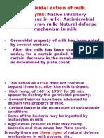 Germicidal Action of Milk