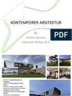KONTEMPORER ARSITEKTUR