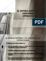 Empresa Subsistema Operaciones