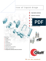Glatt Production of liquid drugs