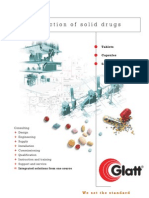 Glatt Production of solid drugs