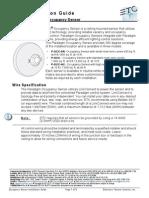 Uni Paradigm Occupancy Sensor Install Manual RevB