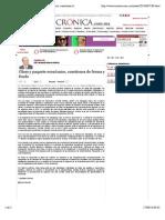 17-09-14 La Crónica de Hoy | Glosa y paquete económico, cuestiones de forma y fondo