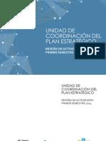 Reseña de actividades primer semestre 2014 - Unidad de Coordinación del Plan Estratégico