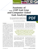 Anatomy of a COP Gait Line and Computer Aided Gait Analysis