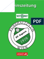 Vereinszeitung des SV Aspern