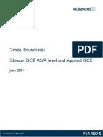GCE a Level Grade Boundaries