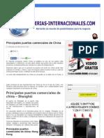 Principales Puertos Comerciales de China