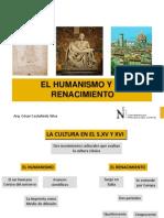 1.-El Humanismo y El Renacimiento