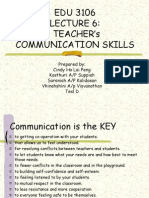 EDU 3106 TEACHER's COMMUNICATION SKILLS