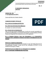 17-09-14 Orden del Día. C. Diputados