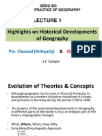 Lecture 1 Historical Developments of Concepts