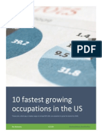10 fastest growing occupations in the us
