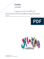 US GAAP IFRS Comparison May 2013