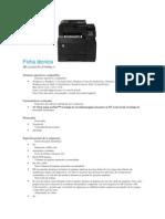 Ficha Técnica Impresora