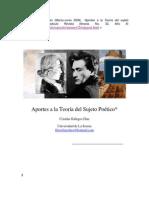 Aportes a La Teoria Del Sujeto Poetico