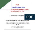 Work Force diversity